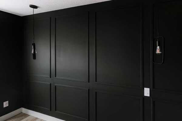 Black Painting Wall