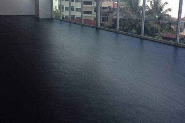 Black Rubber Floor