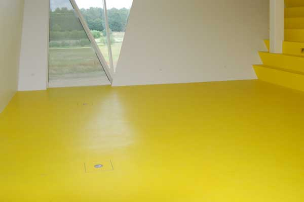Yellow Rubber Floor
